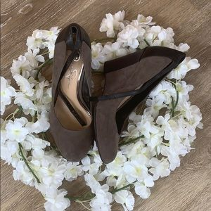 🔲 Jessica Simpson   Wedges w/ Ankle Strap - 7